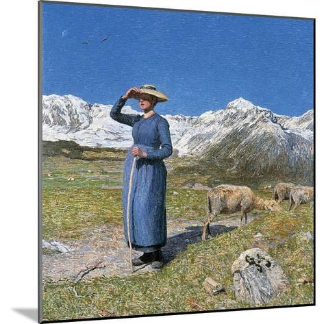 Midday on Alps on Windy Day, 1891--Mounted Giclee Print