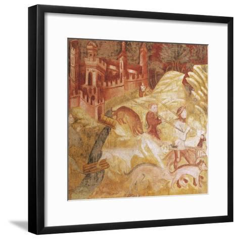 Hunting Scene--Framed Art Print
