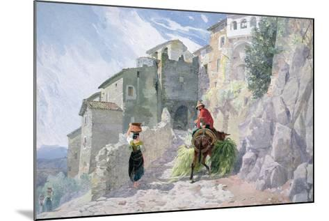 The Monastery of San Rocco, Olevano, 19th Century--Mounted Giclee Print