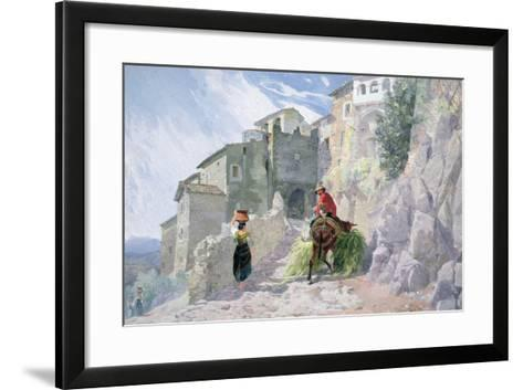 The Monastery of San Rocco, Olevano, 19th Century--Framed Art Print
