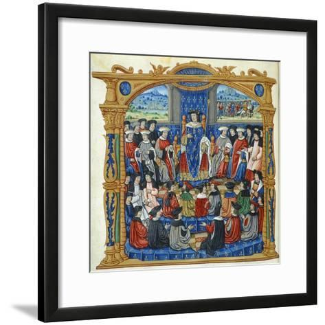 Meeting of States, Miniature, France 16th Century--Framed Art Print