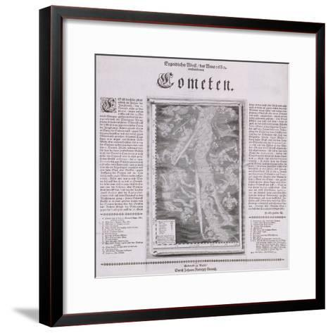 Map of the Constellations Showing Comets Visible in 1680--Framed Art Print