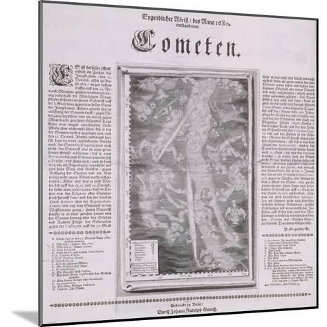 Map of the Constellations Showing Comets Visible in 1680--Mounted Giclee Print