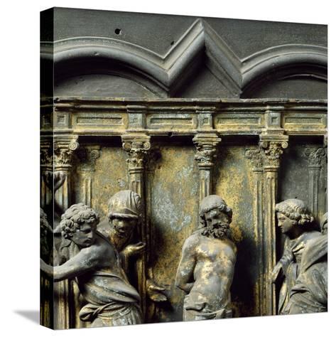 Christ at Column, Bronze Panel--Stretched Canvas Print