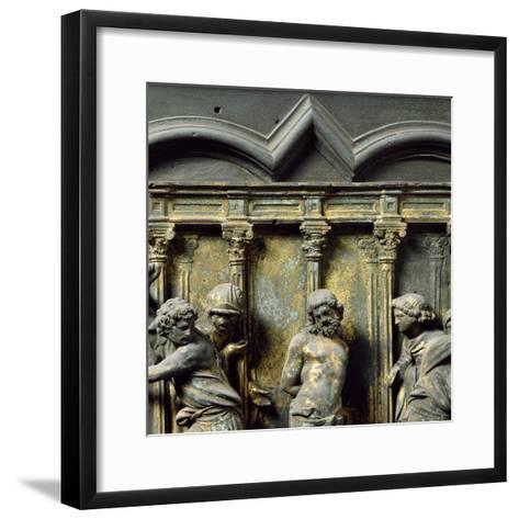 Christ at Column, Bronze Panel--Framed Art Print