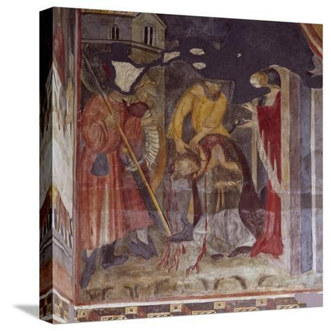 Beheading, Detail from Life of John the Baptist, Cycle of Frescoes, 1405-1435--Stretched Canvas Print