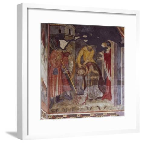 Beheading, Detail from Life of John the Baptist, Cycle of Frescoes, 1405-1435--Framed Art Print