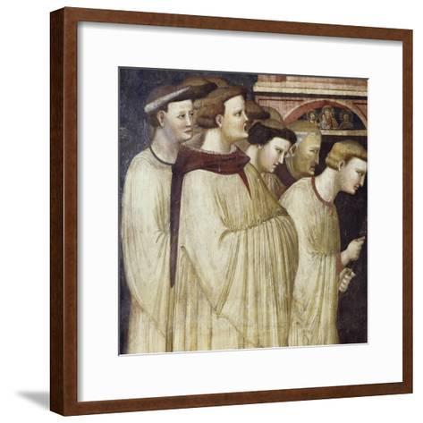 Monks Entering Monastery, Detail from Miraculous Resurrection of Filippa Barraca, 1320-1325--Framed Art Print