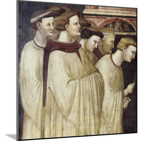 Monks Entering Monastery, Detail from Miraculous Resurrection of Filippa Barraca, 1320-1325--Mounted Giclee Print