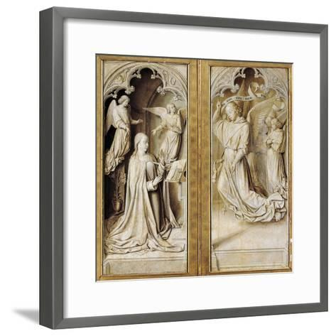 Annunciation in Grisaille--Framed Art Print