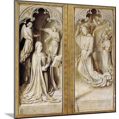 Annunciation in Grisaille--Mounted Giclee Print