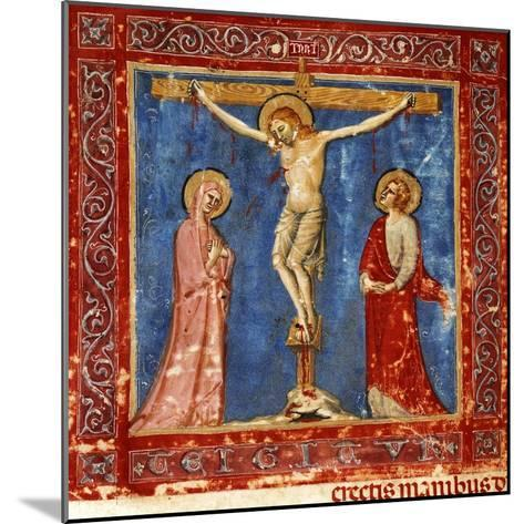 Jesus' Crucifixion, Miniature from the Missal of the Order of Friars Minor, Latin Manuscript--Mounted Giclee Print