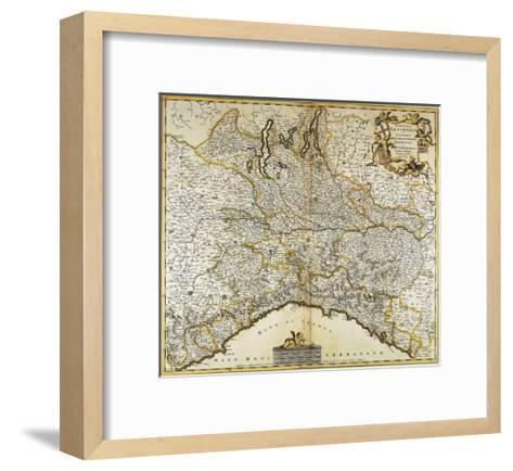Genoa Republic, Duchy of Milan, Parma and Monferrato, Map--Framed Art Print