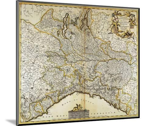 Genoa Republic, Duchy of Milan, Parma and Monferrato, Map--Mounted Giclee Print