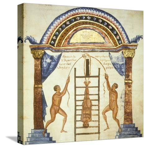 Illustration from the Commentaries by Apollonio from Chiton on a Hippocratic Treaty--Stretched Canvas Print
