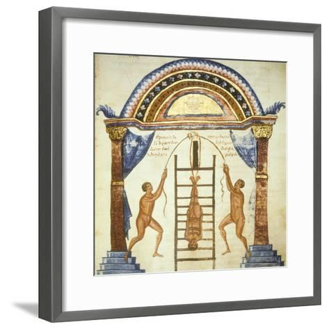 Illustration from the Commentaries by Apollonio from Chiton on a Hippocratic Treaty--Framed Art Print