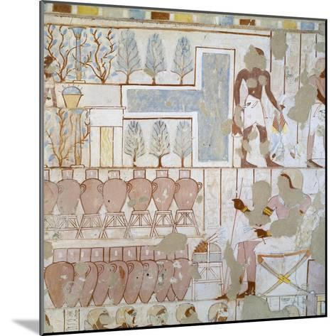 Egypt, Thebes, Luxor, Sheikh 'Abd Al-Qurna, Tomb of City Police Captain Nebamun, Mural Paintings--Mounted Giclee Print