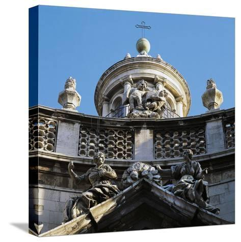 Decoration on Facade of Church of St, Agatha's Abbey--Stretched Canvas Print
