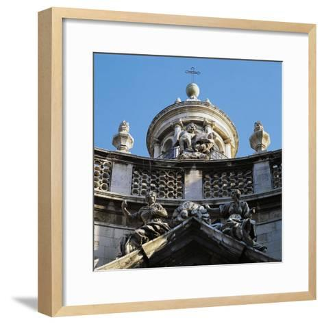 Decoration on Facade of Church of St, Agatha's Abbey--Framed Art Print