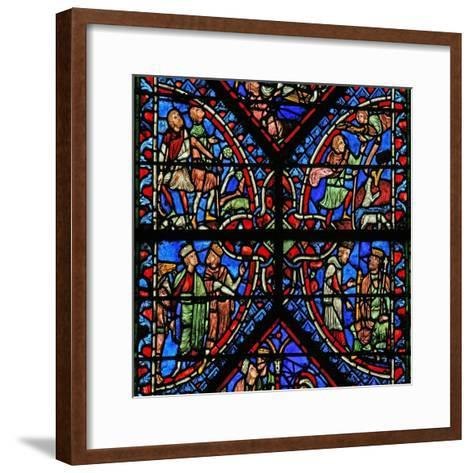 Window W2 Depicting the Magi with Herod, Annunciation to the Shepherds--Framed Art Print