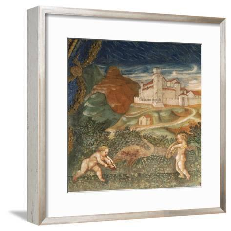 Couple of Cupids, of Love Story Between Bianca Pellegrini and Pier Maria Rossi, 1452--Framed Art Print
