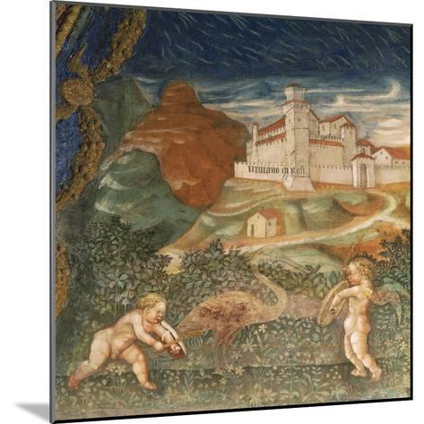 Couple of Cupids, of Love Story Between Bianca Pellegrini and Pier Maria Rossi, 1452--Mounted Giclee Print