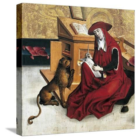 St Jerome, Panel from Altarpiece of Doctors of Church--Stretched Canvas Print