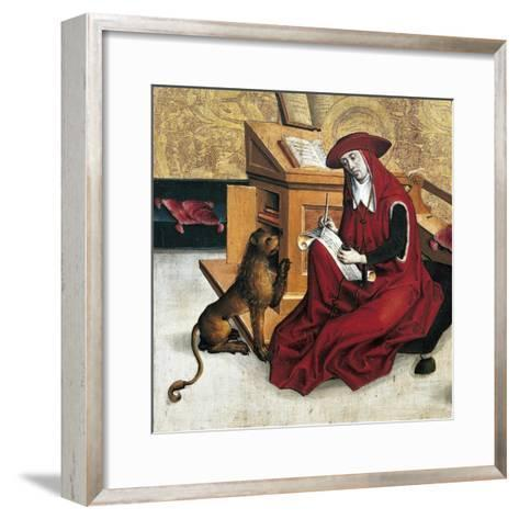 St Jerome, Panel from Altarpiece of Doctors of Church--Framed Art Print