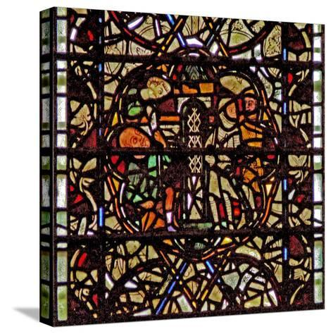 Window W60 Depicting St Paul Is Lowered in a Basket--Stretched Canvas Print