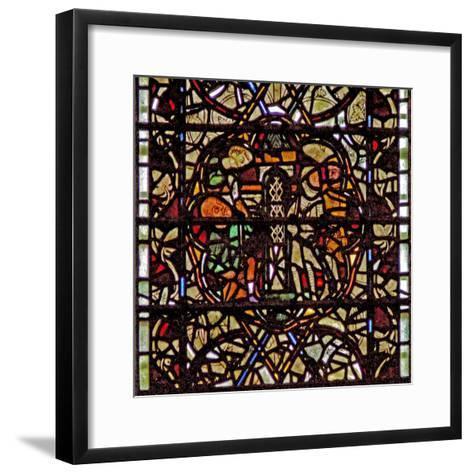 Window W60 Depicting St Paul Is Lowered in a Basket--Framed Art Print