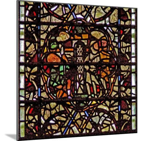 Window W60 Depicting St Paul Is Lowered in a Basket--Mounted Giclee Print