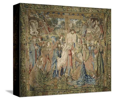 Deposition, 16th Century Spanish Tapestry from the Series Stories of the Life of Jesus Christ--Stretched Canvas Print