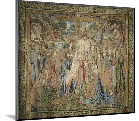 Deposition, 16th Century Spanish Tapestry from the Series Stories of the Life of Jesus Christ--Mounted Giclee Print