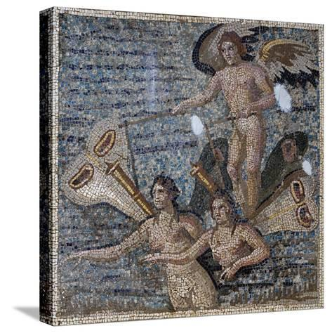 Mosaic Depicting Psyche, Uncovered in Daphne, Antioch, Turkey, 3rd Century--Stretched Canvas Print