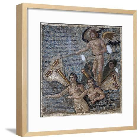 Mosaic Depicting Psyche, Uncovered in Daphne, Antioch, Turkey, 3rd Century--Framed Art Print