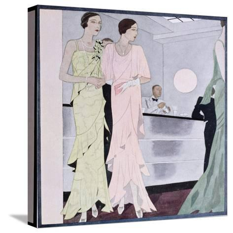 At the Cocktail Party, Fashion Plate from 'Femina' Magazine, April 1930--Stretched Canvas Print