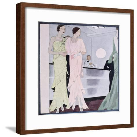 At the Cocktail Party, Fashion Plate from 'Femina' Magazine, April 1930--Framed Art Print