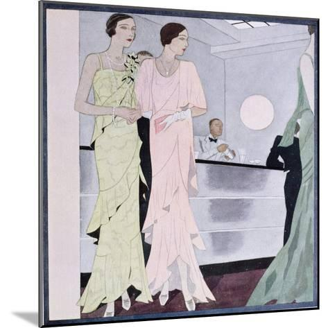 At the Cocktail Party, Fashion Plate from 'Femina' Magazine, April 1930--Mounted Giclee Print