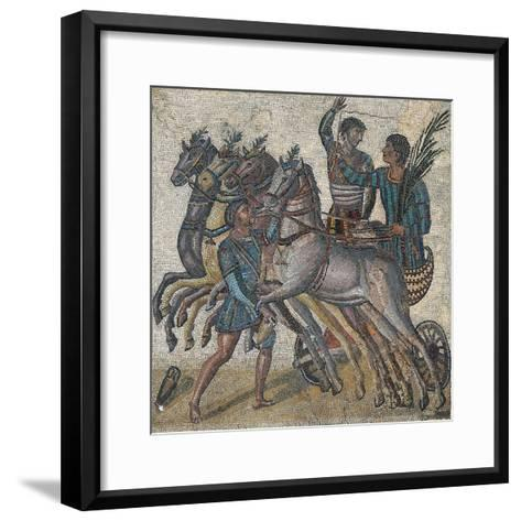 Imperial-Age Mosaic Depicting Chariot Race, 3rd Century--Framed Art Print