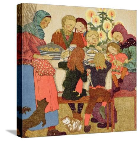 Christmas Eve Feast, C.1910--Stretched Canvas Print