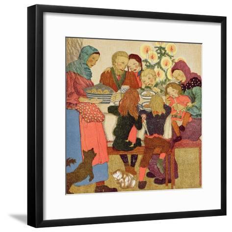 Christmas Eve Feast, C.1910--Framed Art Print