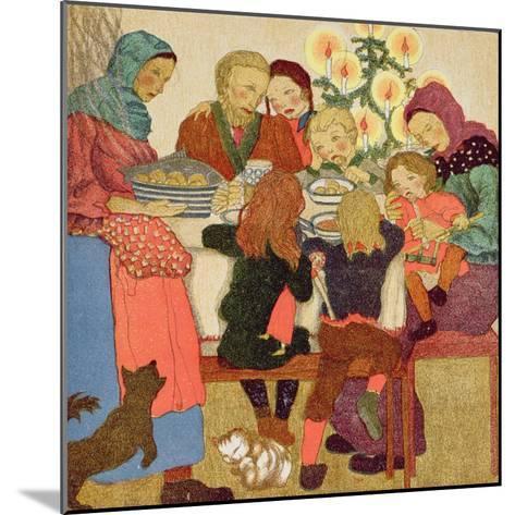 Christmas Eve Feast, C.1910--Mounted Giclee Print