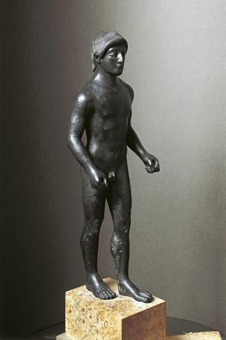 Greek Civilization, Bronze Statuette of Young Athlete--Stretched Canvas Print