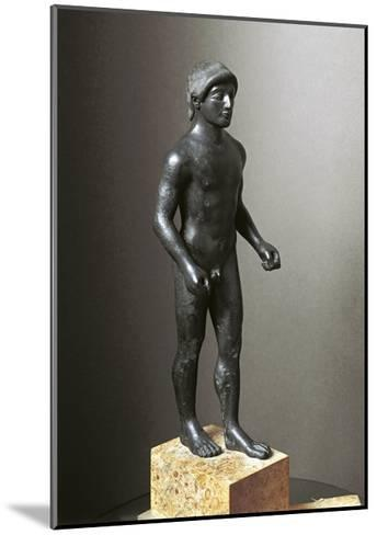 Greek Civilization, Bronze Statuette of Young Athlete--Mounted Giclee Print