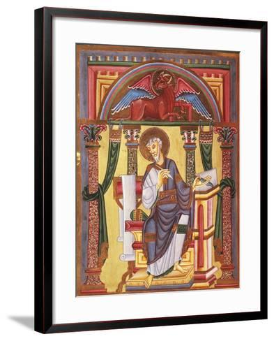 Saint Luke the Evangelist, Miniature 1045 from Caesareus Upsaliensis Code, Latin Manuscript--Framed Art Print