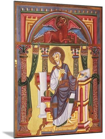 Saint Luke the Evangelist, Miniature 1045 from Caesareus Upsaliensis Code, Latin Manuscript--Mounted Giclee Print