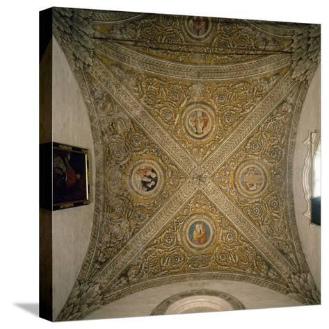 Vault of Sacristy and Nave of Chapel of Cathedral of Mantua--Stretched Canvas Print