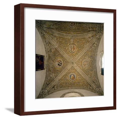 Vault of Sacristy and Nave of Chapel of Cathedral of Mantua--Framed Art Print