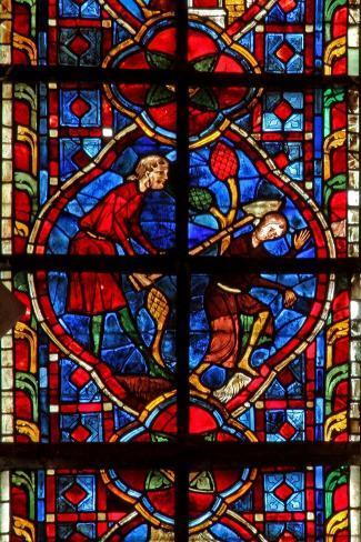 Window W207 Depicting Cain Kills Abel--Stretched Canvas Print