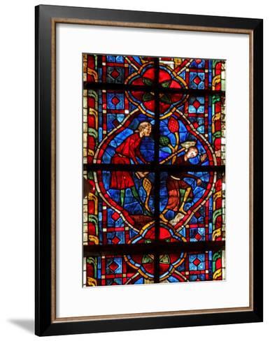 Window W207 Depicting Cain Kills Abel--Framed Art Print